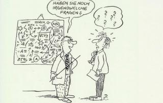 Fragetechniken für erfolgreiche Verkaufsgespräche © Erhard Dietl / Cartoon-Caricature-Contor München